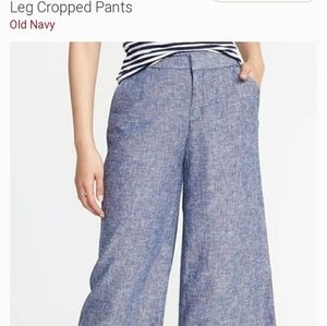 Old Navy Linen Crop Pants